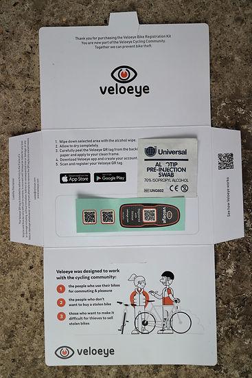 Velo Eye Package box swab bicycle secutiry tag