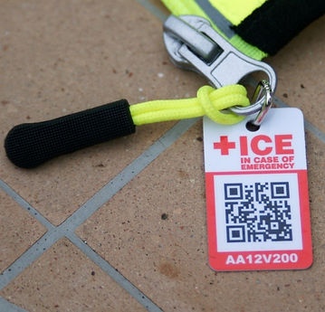 ICE ID IN CASE EMERGENCY TAG