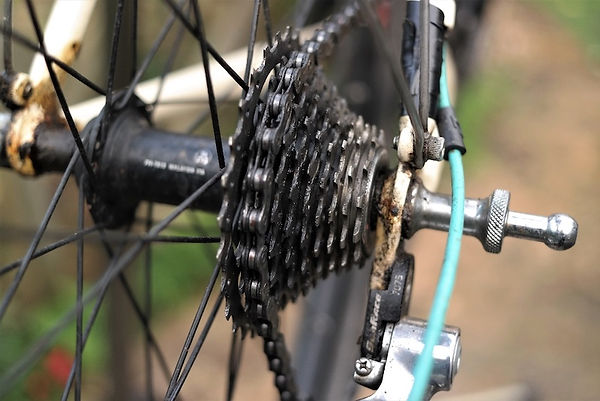 cassette chain bike bicycle back rear cycling