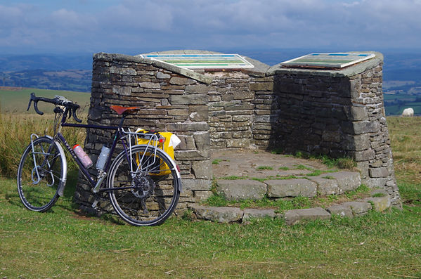 Two Tumps Cross Dyke Kerry Ridgeway viewppoint Powys