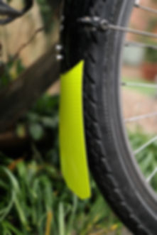 mudflap mudguard yellow  bike bicycle cycle be bright be seen RAW