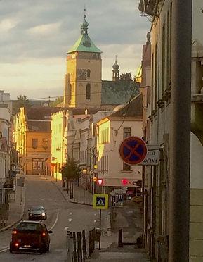 Havlickuv Brod, Czech Republic, in evening sunshine