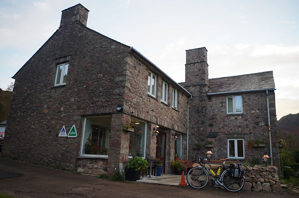 YHA Eskdale, touring bicycle, Cumbria, Lake District, Youth  Hostel