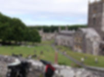 Brompton bicycle, St. David's Cathedral