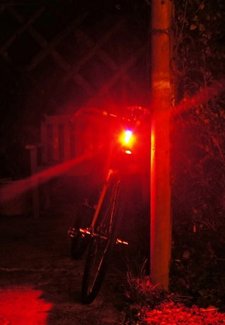 Nite rider sabre 35 bicycle cycle rear light beam review