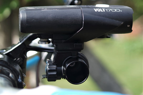 velo ornage cycling bicycle bar handlebar extender accessory mount moon storm pro light front