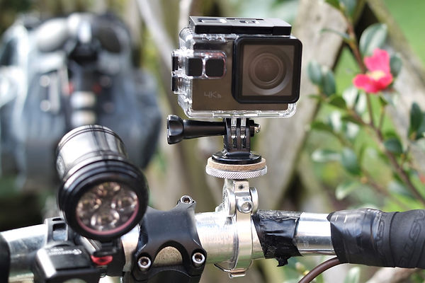 Action Camera Bar mount cycling video
