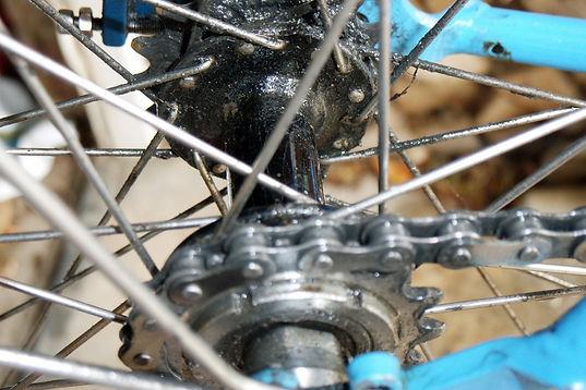 chain hub whell bike bicycle