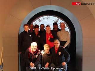 Ausfahrt nach Aarau, Besichtigung Baustelle Eppenberg SBB
