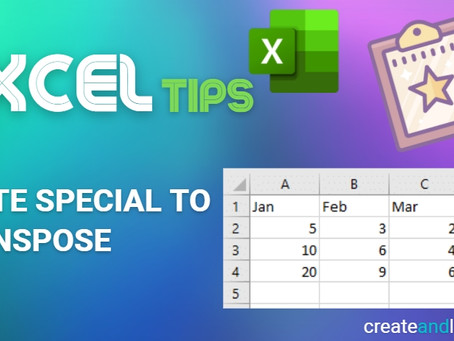 Excel Tips - Paste Special to Transpose