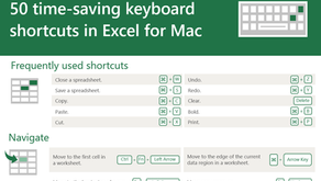 50 time-saving Excel shortcuts for Mac
