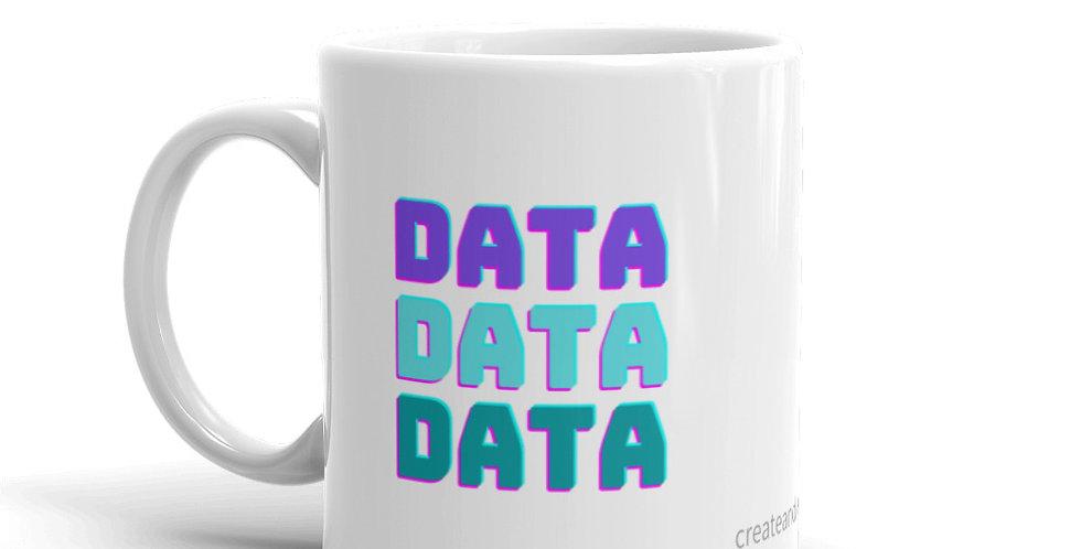 White Glossy Mug - Data