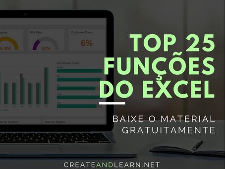 Top 25 Funções do MS Excel que você precisa saber