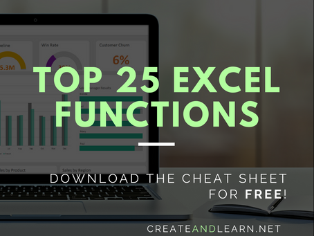 Top 25 MS Excel functions that you should know
