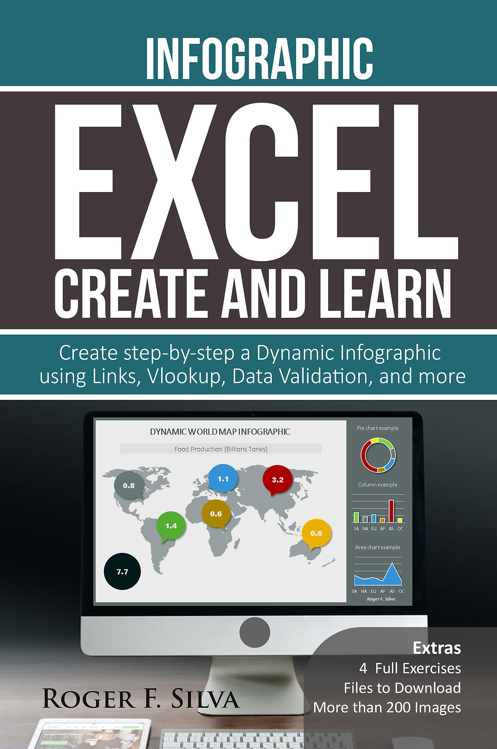 Excel book infographics and dashboards