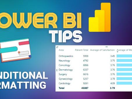 Power BI Tips - Conditional Formatting