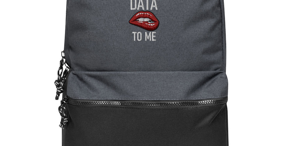 Embroidered Champion Backpack - Talk Data to Me