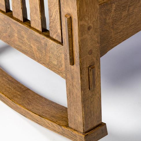 Morris Rocker: Through Tenon Detail