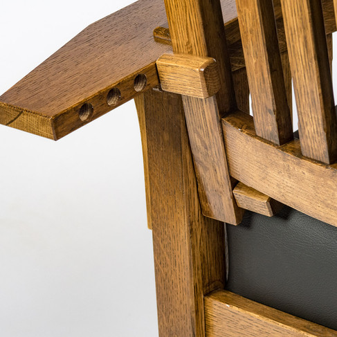 Morris Rocker: Back Adjustment Detail