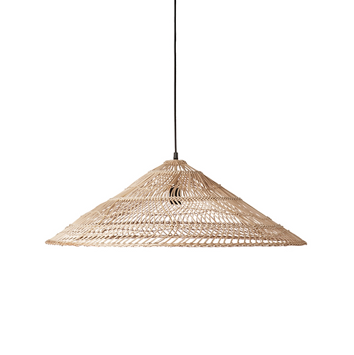 wicker hanging lamp triangle natural