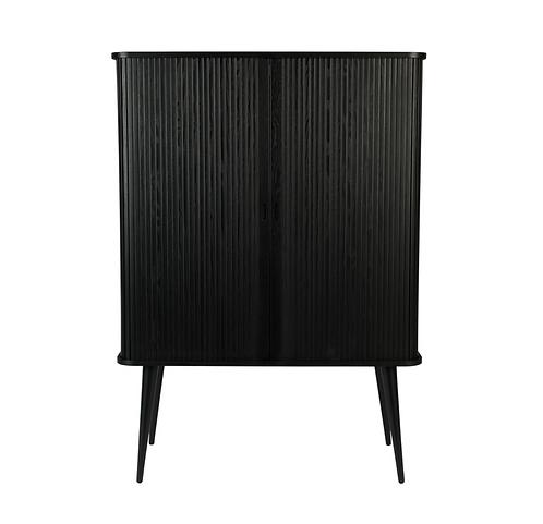 Armoire vintage black - porte coulissante