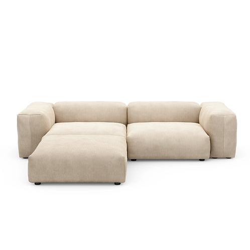 VETSAK - Corner Sofa L Cord Velours
