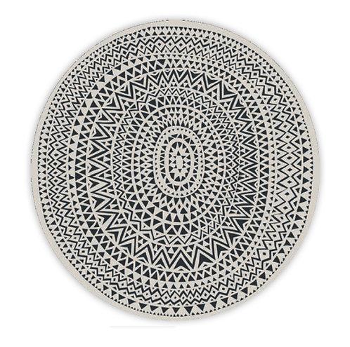 6X Set de table noir&blanc - PÔDEVACHE