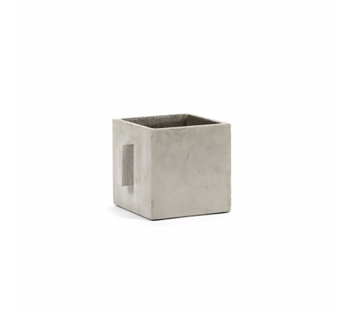 SERAX FLOWER POT S L17 X W17 X H17 CM GREY