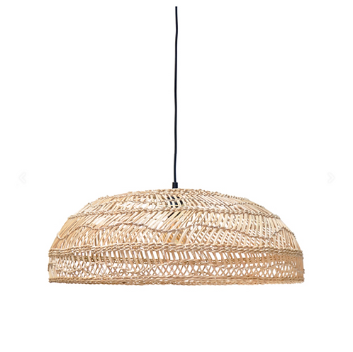 wicker hanging lamp flat natural (60x60x20)