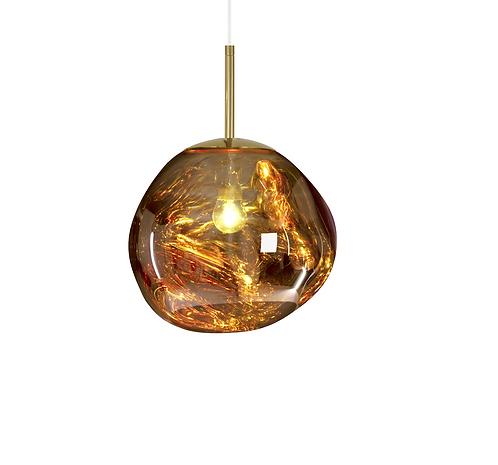 Suspension Melt Mini gold / Ø 27 cm - Tom Dixon