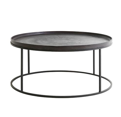 Table de salon Ø89x42 cm gris plomb