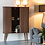 Thumbnail: Armoire vintage noyer - porte coulissante