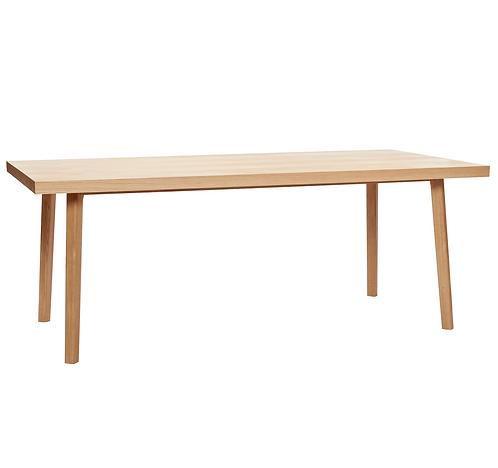 Hübsch table chêne chevrons 2mx1m
