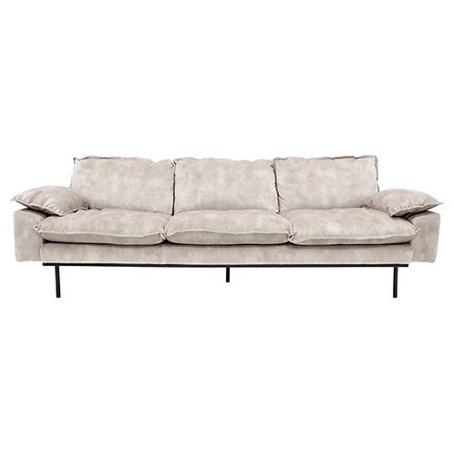 Canapé gris clair velours - HKLiving