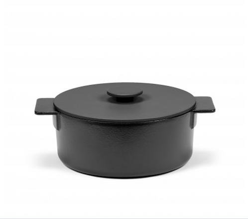 SURFACE POT ENAMEL CAST IRON BLACK D26 - 4,2L