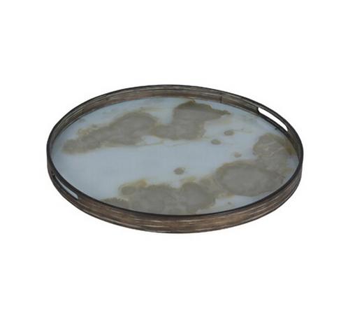 Plateau en verre peint 48cm ≠motifs