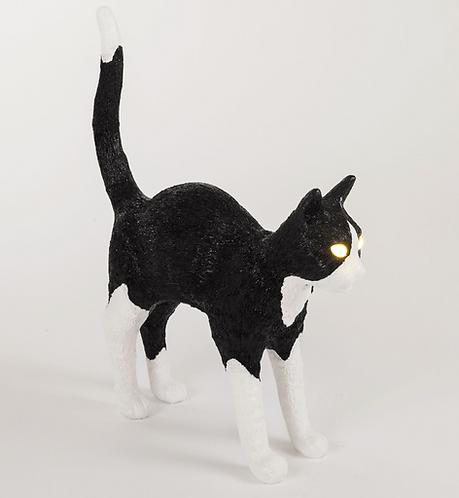 "Seletti Lampe sans fil ""Jobby the cat"" Noir&Blanc"