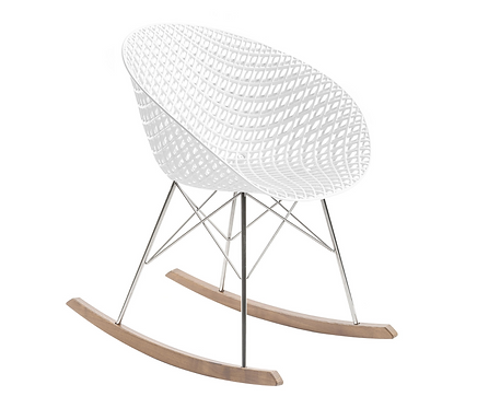 Rocking chair Smatrik / Patins bois - Kartell