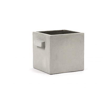 SERAX FLOWER POT M L22 X W22 X H22 CM GREY
