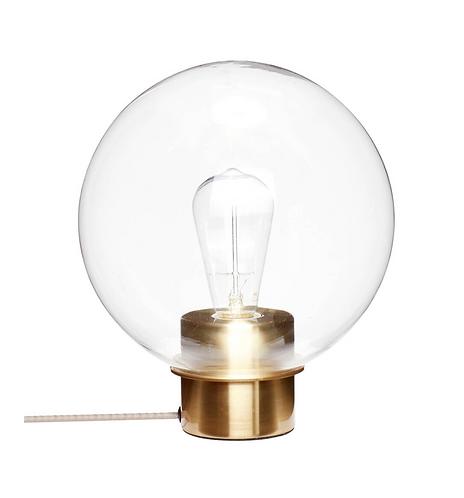 Hubsch Lampe de table, verre/laiton
