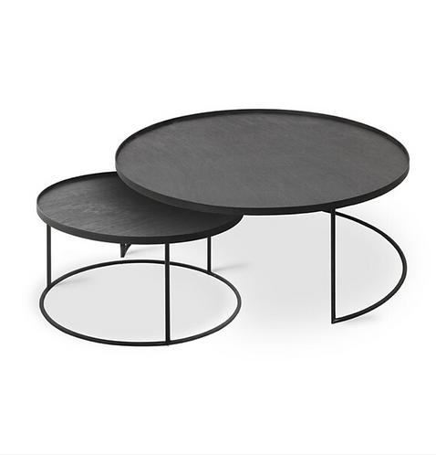 Ethnicraft Set de tables bois 93cm et 62cm