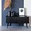 Thumbnail: buffet vintage black - porte coulissante 120cm