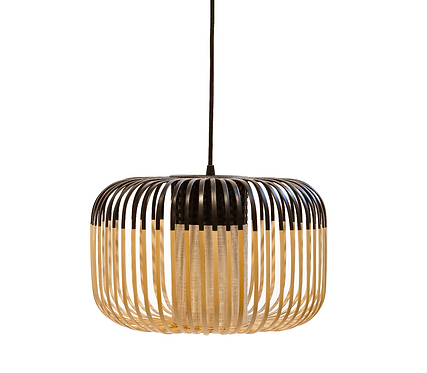 Bamboo Light S black / H 23 x Ø 35 cm - Forestier