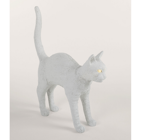 "Seletti Lampe sans fil ""Jobby the cat"" Blanc"