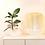 Thumbnail: Lampe de table Bamboo Light BLANC/ H 39 x Ø 27 cm - Forestier