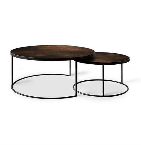 Etnicraft Bronze Copper Nesting coffee table set