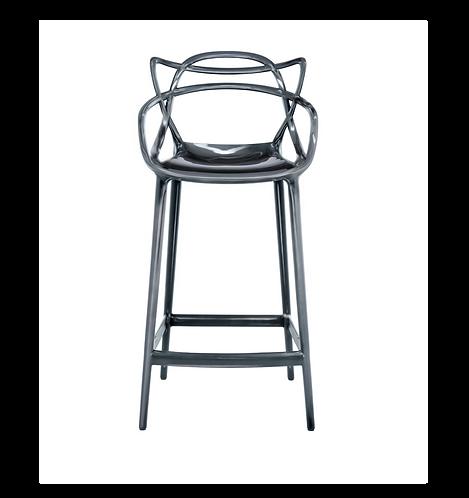 Chaise de bar Masters / H 65 cm - Métallisée - Kartell