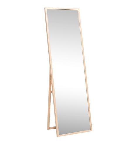 Miroir en chêne Hübsch autoportant