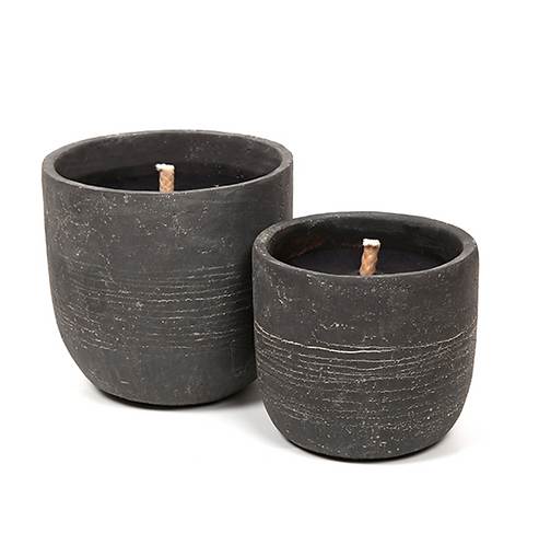 Robust dark grey (2 sizes) OUTDOOR Candle