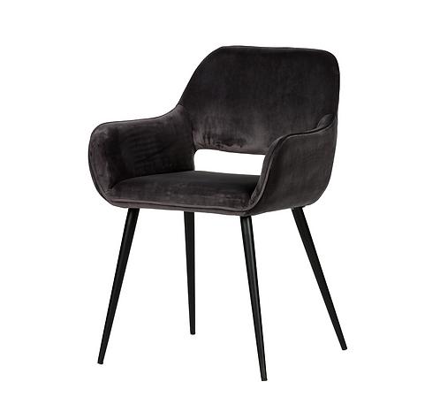 Set de 2 - jelle chaise velours gris